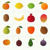 Color fruit — Stock Vector
