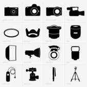 Photo equipment — Stock Vector