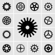 Stock Vector: Cogwheels