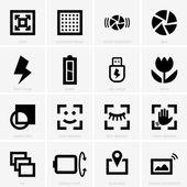 Photo icons — Stock Vector