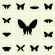 Butterfly icons — Stock Vector #26484597