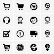 Shopping icons — Vector de stock #26484627