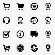 Stock vektor: Shopping icons