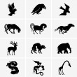 iconos de animales — Vector de stock  #26484645