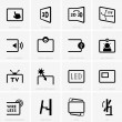 Monitor technology icons — Stock Vector