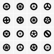 Stock Vector: Baby stroller wheel icons