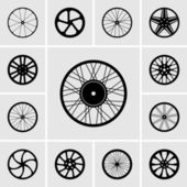Wheel icons — Vettoriale Stock