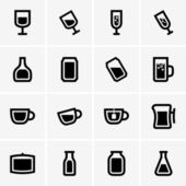 Drink icons — Vettoriale Stock