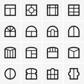 Window icons — Stock Vector