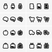 Indicator icons — Stock Vector