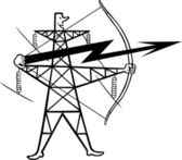 Electric power transmission — Vector de stock