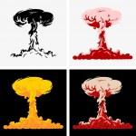 Nuclear explosion — Stock Vector #27485057