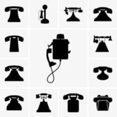 Old telephone icons — Stock Vector