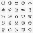 Animal icons — Vector de stock