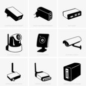 Network devices — Stock Vector