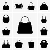 Ladies' handbags — Stock Vector
