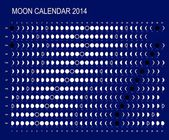 Moon calendar 2014 — Stock Vector