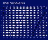 Moon calendar 2014 — Stock Vector