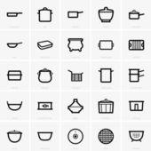Kitchenware icons — Stock Vector