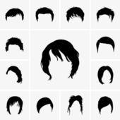 Hair Styles — Stock Vector