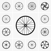 Bicycle wheels — Stock Vector
