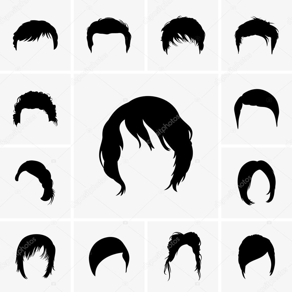 Vector Hairstyles: Stock Vector © Den.Barbulat #32263169