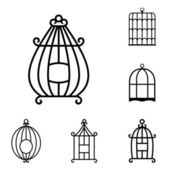 Birdcages — Stock Vector