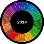 Calendar 2014 — Stock Vector #34534173