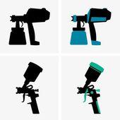 Spray guns — Stock Vector