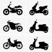 Motos et scooters — Vecteur