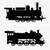 Steam locomotives — Stock Vector