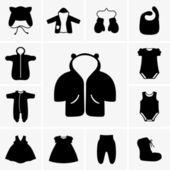 婴儿衣服 — 图库矢量图片