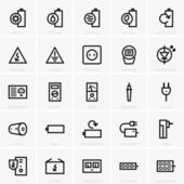 Electricity icons — Stockvektor