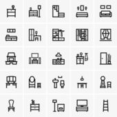 Interior icons — Stock Vector