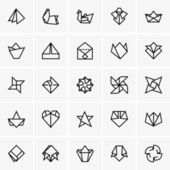 Origami icons — Stock Vector