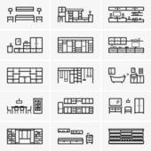 Rooms — Stock Vector