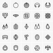 Jewelry icons — Stock Vector