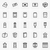 Mailboxes icons — Stock Vector