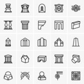 Architecture icons — Stock Vector