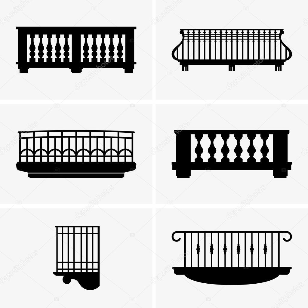 Balconies stock vector den barbulat 44928443 for Balcony vector