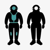 Atmospheric diving suits — Stock Vector