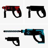 Hammer drills — Stock Vector