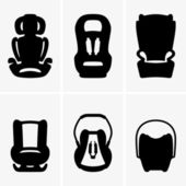 Baby car seats — Stock Vector