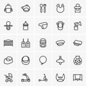 Baby things icons — Stock Vector