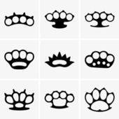 Brass knuckles — Vector de stock