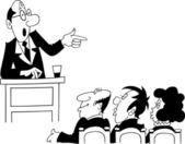 Orator giving speech — Stock Vector