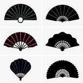 Hand fans — Stock Vector
