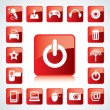 Glossy Icon Set for Web Applications. — Stock Vector