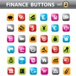 Vector. Finance buttons, web elements. — Vektorgrafik