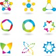 Set of abstract elements. vector — Stock vektor